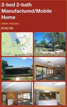 2-bed 2-bath Manufactured/Mobile Home in Astor, Florida ►$135,706 #PropertyForSale #RealEstate #Florida http://florida-magic.com/properties/9813-manufactured-mobile-home-for-sale-in-astor-florida-with-2-bedroom-2-bathroom