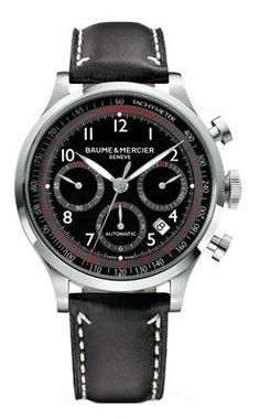 Baume & Mercier Men's 10001 Capeland Chronograph Black Chronograph Dial Watch #best #sellers #luxury #watches