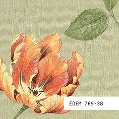 Behang STAAL EDEM 769-serie | Bloemen behang hoogwaardig vinylbehang met reliëf structuur mooie interieur kleuren