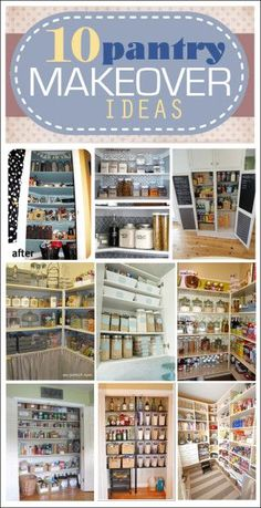 10 pantry makeover ideas. LOVE these solutions for storage and organization.