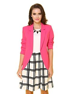 My Wonderful World Women's V-Neck Coat Shawl Collar Blazer Large Watermelon My Wonderful World Blazer Coat Jacket http://www.amazon.com/dp/B0142EIYDE/ref=cm_sw_r_pi_dp_yt.0vb0KAQ5RP