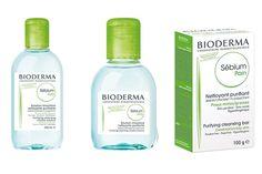 Linha Sébium, da Bioderma. Todos os produtos da linha não somente agem no controle da quantidade do sebo, mas possuem ação biológica na oxidação do sebo. Beautylist