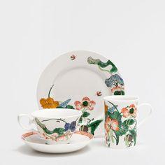 Conjunto chá porcelana flores
