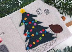 Quietbook Weihnachten Tannenbaum und Katze von EmmyLou