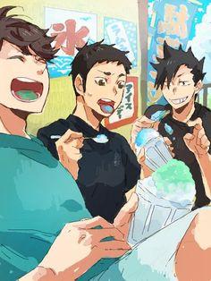 It's their bonding time (? Haikyuu Manga, Haikyuu Funny, Haikyuu Fanart, Manga Anime, Kuroo Tetsurou, Haikyuu Karasuno, Nishinoya, Kenma, Kageyama