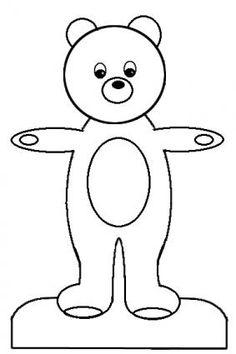 printable teddy bear paper doll pattern