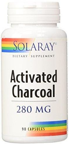 Solaray Activated Charcoal Capsules 280 mg 90 Count *** Get a free teeth whitening powder, link in bio! @beautycharcoal