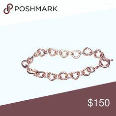 Rose gold heart link bracelet Rose gold heart bracelet Jewelry Bracelets
