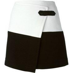Alice+Olivia contrasting panels wrap mini skirt