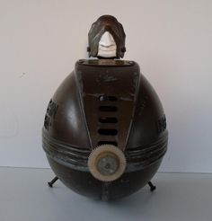 Submarine-men made with vintage table fans #Fan, #Metal, #Plastic, #Steampunk