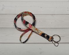 Skinny floral Lanyard  ID Badge Holder   Lobster clasp by Laa766  preppy / fabric / cute / patterns / key chain / office, nurse, student id, badge / key leash / gifts / key ring