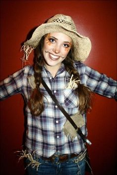 Cute quick and easy scarecrow costume  sc 1 st  Pinterest & halloween scarecrow costume girl - Google Search | Makeup ...