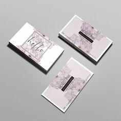 Modern business card template / floral business card /