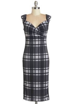 Lady Love Song Dress in Plaid. Who wouldn't want to croon a ballad when they see you in this sultry frock? #modcloth