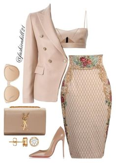"""She Styles"" by fashionkill21 ❤ liked on Polyvore featuring Dolce Vita, Salvatore Ferragamo, Tagliatore, Christian Louboutin, Linda Farrow and Yves Saint Laurent"