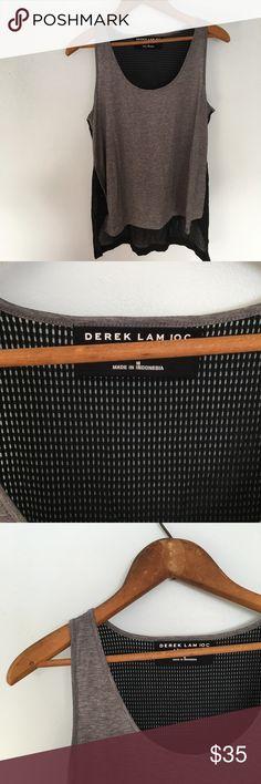 Derek Lam IOC Athleta Tank Top Gray from black mesh tank top by Derek Lam IOC Athleta. Like new no flaws. Derek Lam  Tops Tank Tops
