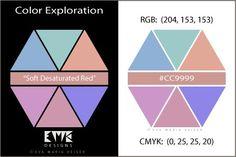 """Eva Maria Keiser Designs:  Explore Color:  """"Soft Desaturated Red"""""""