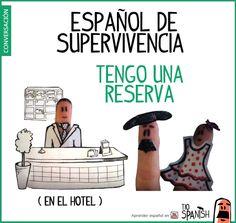 Tengo una reserva -- Introducción en el hotel. Español básico