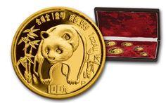 Panda Coins /  1986 China Panda Gold Proof Set 5 pc