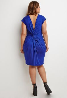 Plus Size Knotted-Back Shift Dress