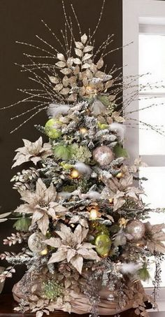 Christmas Tree Decorations 2014 red, white, and green christmas tree - substitute the white with
