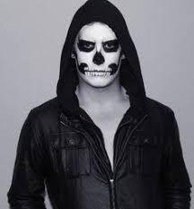 Image result for dia de los muertos makeup man beard
