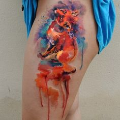 watercolor_fox_tattoo-Ondrash.jpg (640×640)