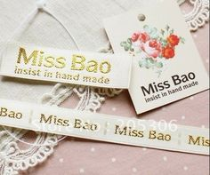 Garment label/Embroidery label, customized,free shipping $1.00