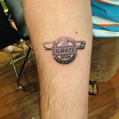 Disney Tattoos (35 pics), UP grape soda bottle cap tattoo