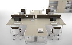 Scrivania sistema Iron Executive by DOIMOffice. La proposta che Doimoffice vuole dare a questa collezione è un'innovativa scelta di materili adatti per l'ambiente ufficio.