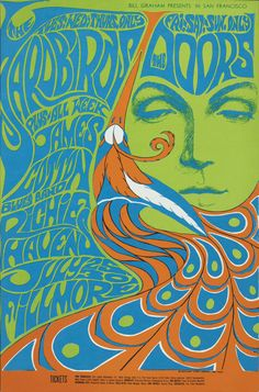 The late psychedelic rock poster art by teresa. I could adapt and use Fornasettie design on a doodle wall maybe? Rock Posters, Band Posters, Posters Vintage, Vintage Concert Posters, Retro Posters, Poster Art, Poster Design, Flyer Design, Pop Art