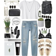 your spine by jesicacecillia on Polyvore featuring Monki, Birkenstock, Motel, ASOS, Clinique, Aesop, Eight & Bob, Fresh, Koh Gen Do and BULB