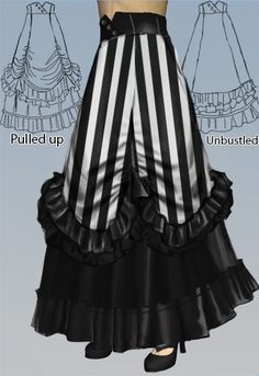 Victorian Long Adjustable Skirt by cultofcandy.com's Candy Culture. Vote for this design at www.chicstar.com