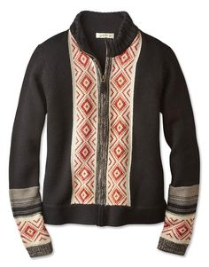Just found this Zip-Front Cardigan Sweater - Zip-Front Intarsia Cardigan -- Orvis on Orvis.com!