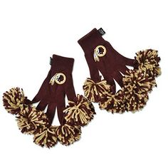 NFL Teams Embroidered Spirit Fingerz Pom Pom Gloves