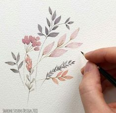 shared by Sarra O. Find pictures and videos of art, flowers and watercolor on We Hear. Picture shared by Sarra O. Find pictures and videos of art, flowers and watercolor on We Heart It - the app to lose yourself in what you love. Watercolor Cards, Watercolor Illustration, Floral Watercolor, Watercolor Paintings, Watercolor Ideas, Watercolors, Watercolor Pictures, Painting Pictures, Simple Watercolor Flowers