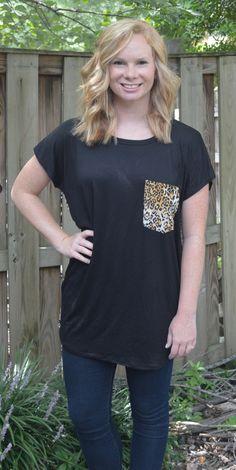 Leopard Pocket Top