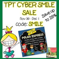 Polar Express and December Fun! Grab it ON SALE!  TpT Cyber Smile Sale Nov. 30-Dec. 1 Code: SMILE