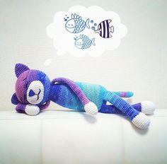 Large Ami Cat crochet pattern - free