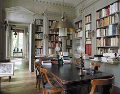 Pierre Berge's library in Paris.