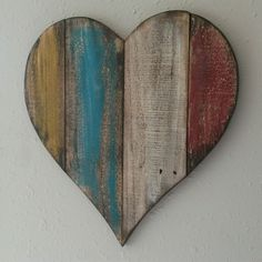 Large Wood Heart, Distressed Heart, Hand Painted, Reclaimed Pallet, Rustic Decor, Farmhouse Decor, Wall Hanging by RagdollAnnies on Etsy