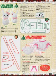 xmas-bunny-and-apron.png (598×800) Lolita Sewing pattern