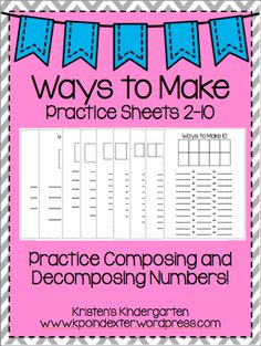 A great way to use those mini erasers and practice making number combinations! Decomposing Numbers, Math Numbers, Student Numbers, Kindergarten Teachers, Teaching Math, Number Combinations, Math Work, Math Journals, First Grade Math