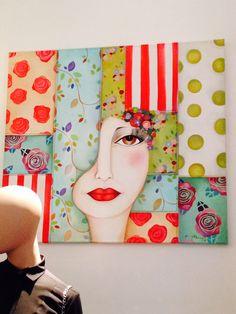 Bilderesultat for karina chavin pinturas Wal Art, Artistic Visions, Creation Art, Colorful Paintings, Fabric Painting, Portrait Art, Hobbies And Crafts, Art Techniques, Art Tutorials