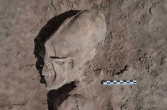 One of the 13 individuals with cranial deformation discovered in the cemetery. These were found in a cemetery dating to 1000 years ago. The burial ground consists of 25 individuals; 13 have intentional cranial deformation and five also have dental mutilation, cultural practices which are similar to those of pre-Hispanic groups in southern Sinaloa and northern Nayarit, but until now, have not been seen in Sonora.