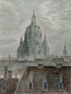 DIE FRAUENKIRCHE IN DRESDEN by Carl Gustav Carus (German 1789 – 1869)