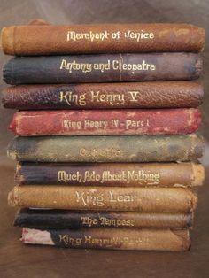 Vintage 1910 Shakespeare pocket books