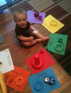 8 Crafty Ways to Teach Your Toddler Colors: matchy matchy