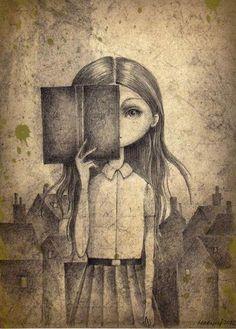 """""""Descomplica estes seus sentimentos, não duvide das tuas certezas e comece a ser feliz sem precisar do consentimento dos outros. Vá viver a sua vida da maneira que você quiser, da maneira que não te falte razões para sorrir.""""  ____ Luara Quaresma  (ilustração de Marija Jevtic)"""