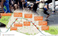 Paris et l'Atelier parisien d'urbanisme (Apur) viennent de plancher sur neuf sites capables d'accueillir des lieux de baignade dans les années à venir.